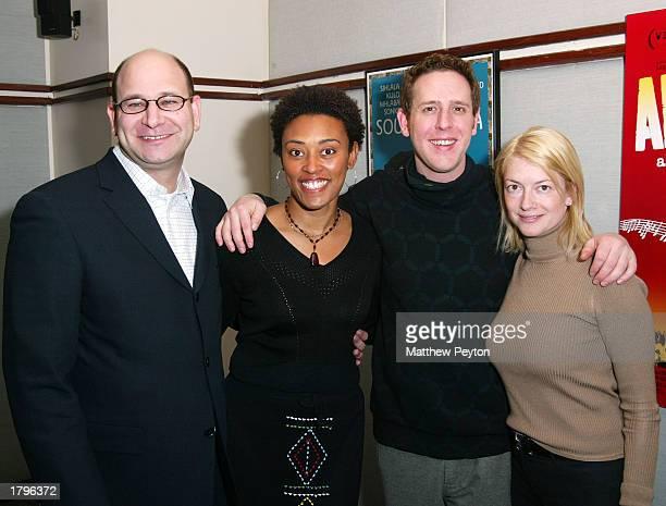 Artisan EVP Paul Pflug producer Sherry Simpson director Lee Hirsch and Artisan EVP Sarah Greenberg attend the New York premiere of Artisan's Amandla...