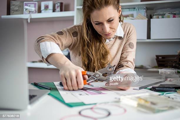 Artisan making handmade cards