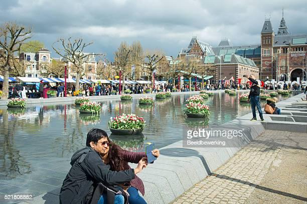 Artisan market behind Rijksmuseum