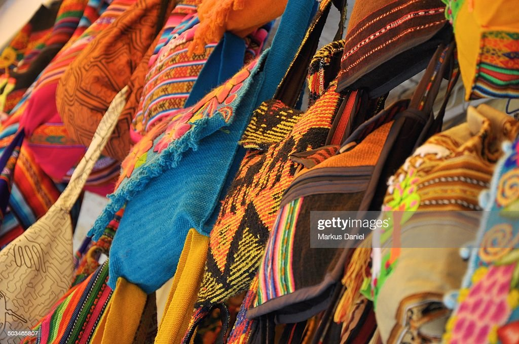 Artisanal Bags and Textiles : Stock-Foto