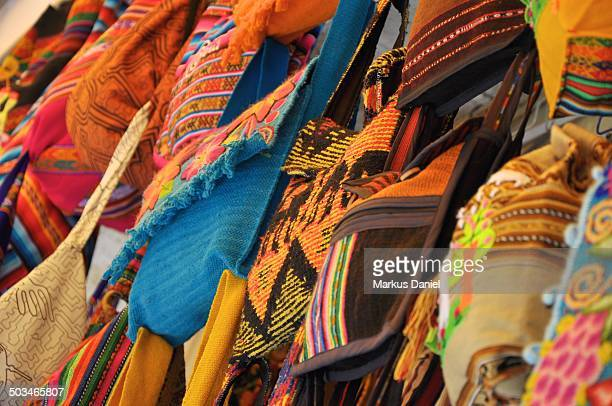 artisanal bags and textiles - markus daniel stock pictures, royalty-free photos & images