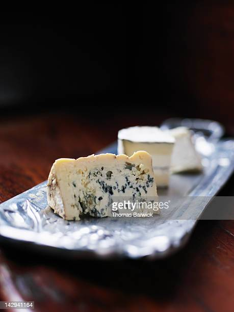 artisanal cheeses - roquefort cheese stock photos and pictures