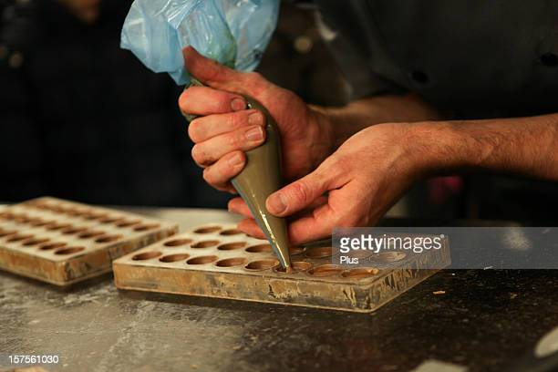 Artisanal production of Belgian chocolates