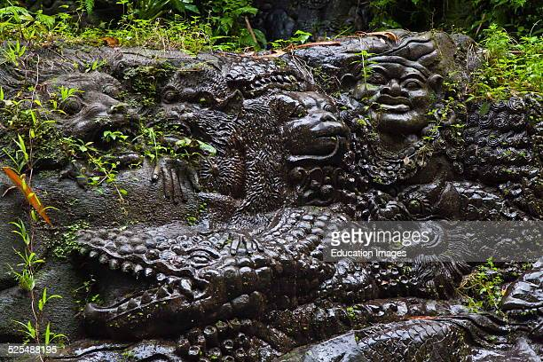 Artisans Have Carved The Story Of The Ramayana In Stone Along The Banks Of The Ayung River Ubud Bali Indonesia