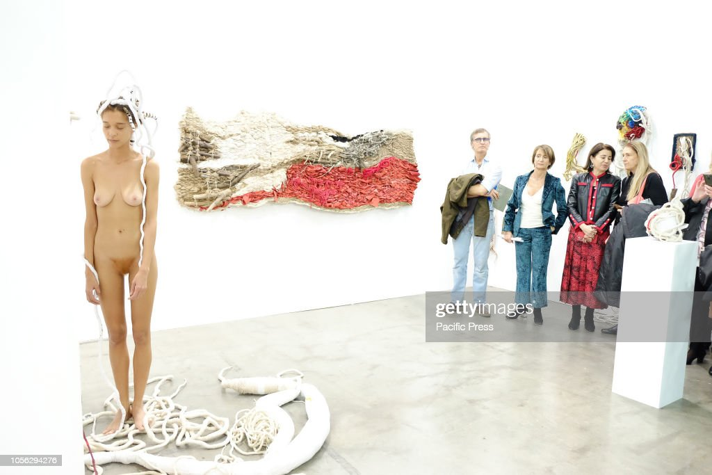 (EDITOR'S NOTE: Image contains nudity.) Artissima, the most... : News Photo