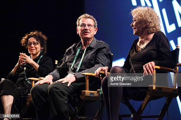 Artist Abigail Child Filmmaker Larry Gottheim and Artist Carolee Schneemann speak at Tribeca Talks After The Movie AvantGarde Masters A Decade Of...
