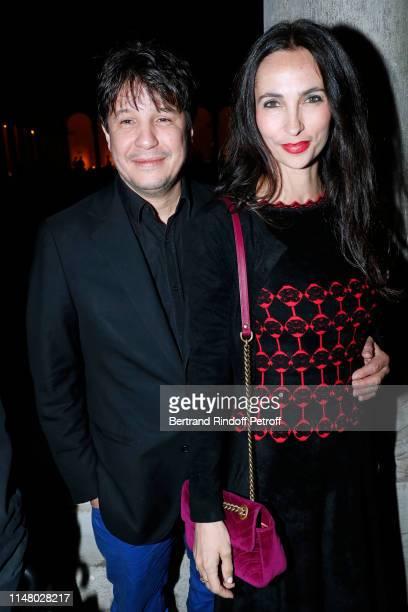Artist Adel Abdessemed and his wife Julia Abdessemed attend the 58th International Art Biennale in Venice Dinner Gala at 'Fondazione Cini Isola Di...