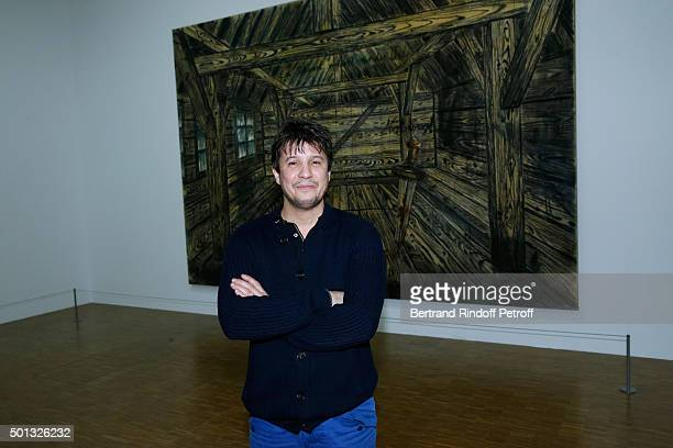 Artist Adel Abdessemed attends the Anselm Kiefer's Exhibition Press Preview held at Centre Pompidou on December 14 2015 in Paris France
