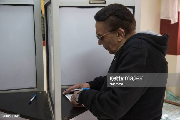 Artist Adel Imam votes in the presidential election Egyptians go to the polls in a threeday vote to choose between the current AbdelFattah alSisi and...