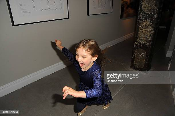 Artist Aelita Andre attends Aelita Andre Exhibit Opening Night at Gallery 151 on October 28 2014 in New York City