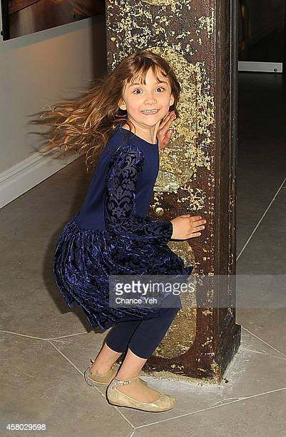 Artist Aelita Andre attends Aelita Andre Exhibit Opening Night at Gallery 151 on October 28, 2014 in New York City.