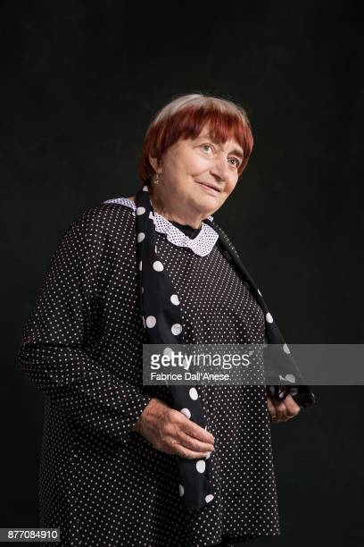 Artist Agnes Varda is photographed on May 4 2017 in Cannes France