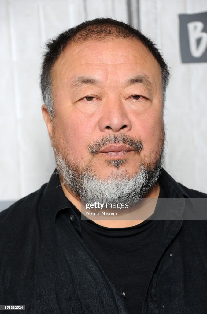 Artist Ai Weiwei attends Build to discuss 'Human Flow' at Build Studio on October 6, 2017 in New York City.