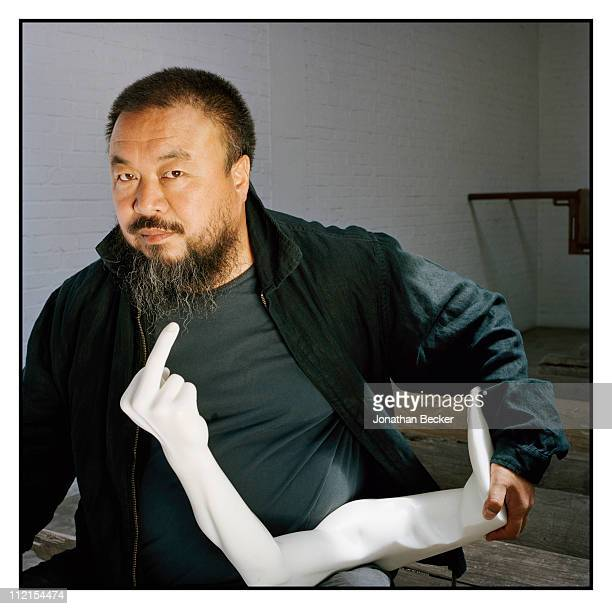 Artist Ai Weiwei is photographed for Vanity Fair Magazine on May 12 2007 in Beijing China PUBLISHED IN JONATHAN BECKER 30 YEARS AT VANITY FAIR