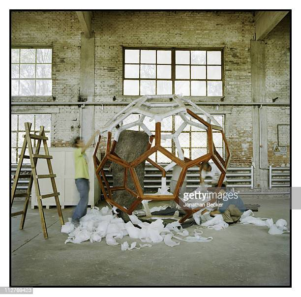 Artist Ai Weiwei's artwork is photographed for Vanity Fair Magazine on May 12 2007 in Beijing China