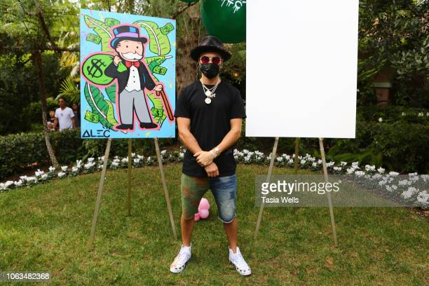 Artist Alec Monopoly attends Alec Monopoly hosts Children's Painting Fundraiser at Beverly Hills Hotel on November 04 2018 in Beverly Hills California