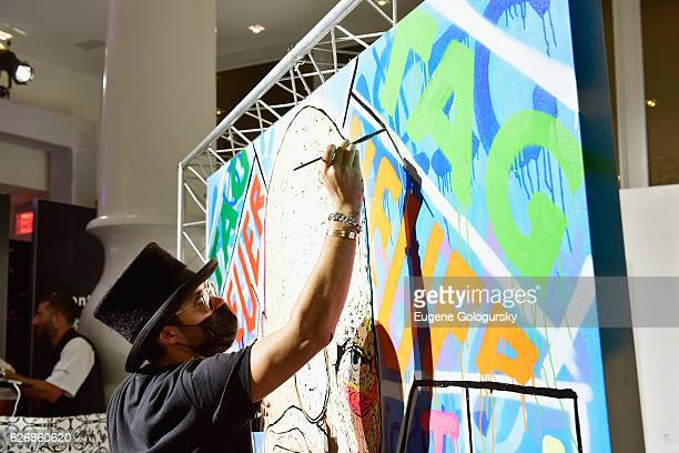Artist Alec Monopoly attends TAG Heuer Announces Their New Art Provocateur at Art Basel Miami at Mondrian South Beach on November 30 2016 in Miami...