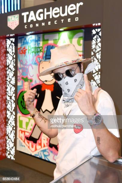 Artist Alec Monopoly attends TAG Heuer Connected Watch V2 Popup Store Inauguration at Bhindi's on March 15 2017 in Glendale California
