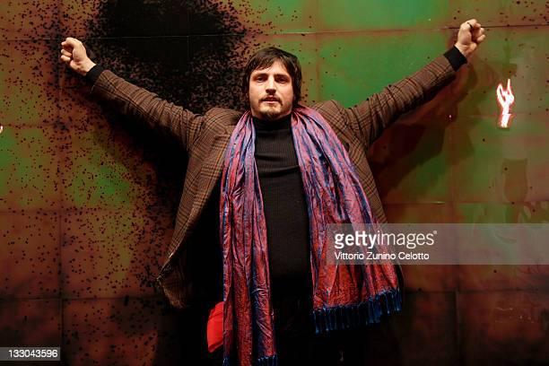 Artist Alessandro Sciaraffa poses during 'Akasha' Vernissage At Cardi Black Box on November 16 2010 in Milan Italy