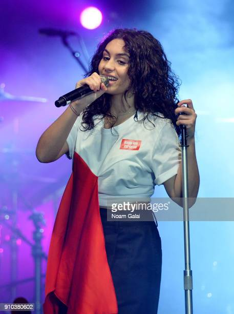 Artist Alessia Cara performs at Spotify's Best New Artist Party at Skylight Clarkson on January 25 2018 in New York City