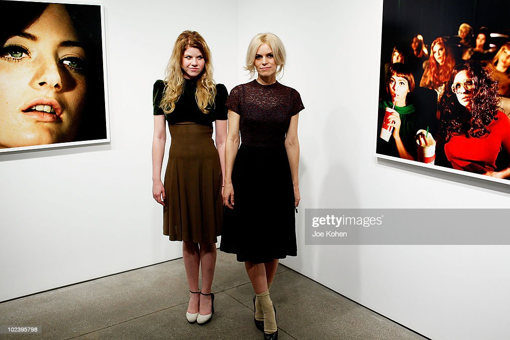 Artist Alex Prager (R) and her sister Vanessa Prager attend Alex Prager's 'Week-End' exhibition opening at the Yancey Richardson Gallery on January 14, 2010 in New York City.