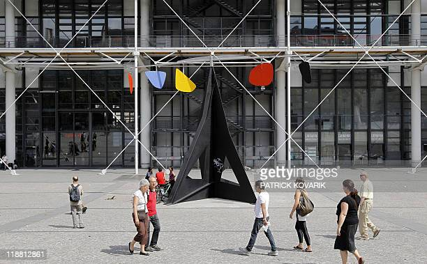 US artist Alexander Calder 1974's mobile 'Horizontal' is displayed on the piazza in front of Paris Centre Pompidou modern arts museum on July 11 2011...