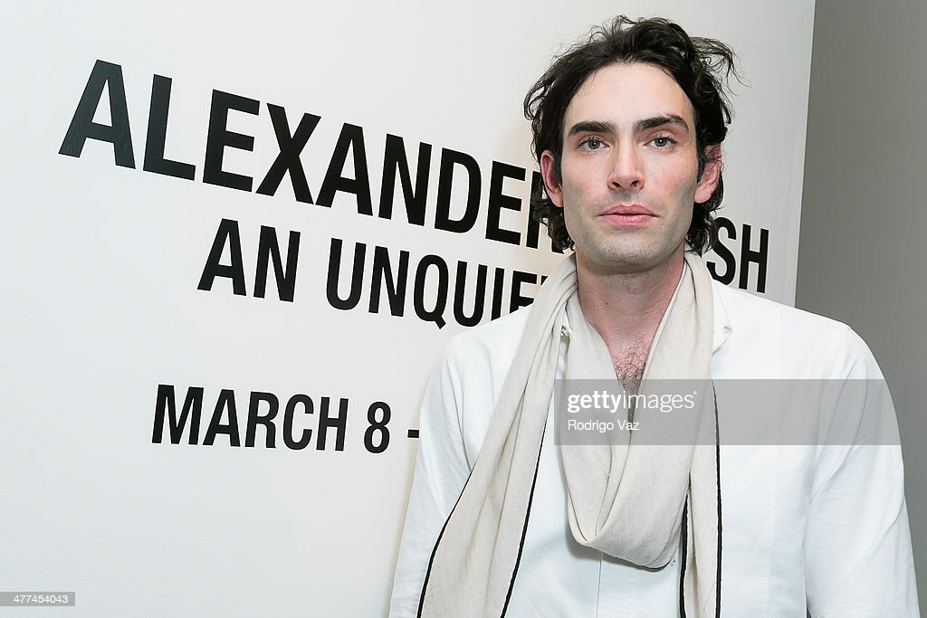 Artist Alexander Yulish attends Alexander Yulish 'An Unquiet Mind' VIP Opening Reception at KM Fine Arts LA Studio on March 8, 2014 in Los Angeles, California.