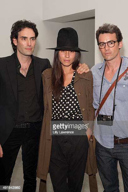 Artist Alexander Yulish Aurelien Levitan and Tasya van Ree attend Opening of Alexander Yulish Exhibition 'Immovable Thoughts' at Ace Gallery on...