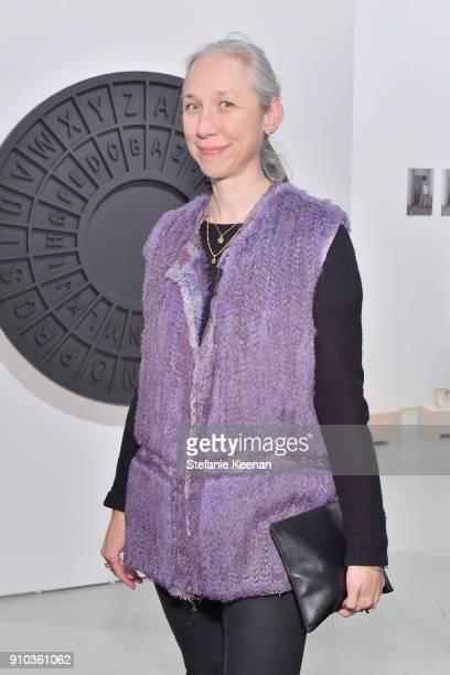 Artist Alexandra Grant at OPENING NIGHT   ART LOS ANGELES CONTEMPORARY 9TH EDITION at Barkar Hangar on January 25 2018 in Santa Monica California