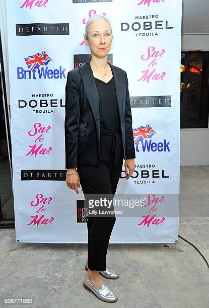 Artist Alexandra Grant attends Sur le Mur's LA to London Street Week art show and benefit for Rock Against Trafficking on April 30 2016 in Los...