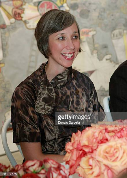 Artist Alexandra Grant attends the Vogue and Mulberry Host Dinner to Celebrate Alexandra Grant Exhibition on September 23 2008 in Los Angeles...