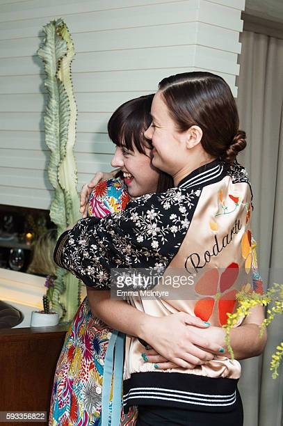 Artist Alia Penner and actress Brie Larson attend the Women of Cinefamily weekend closing party at The Standard Hollywood on August 21 2016 in West...