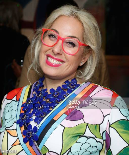 Artist Allison Eden attends the Sold Out Art Auction To Benefit Camp For Children With Cancer on April 12 2018 in Glen Cove New York