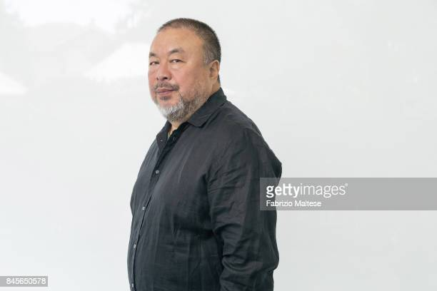 Artist and activist Ai Weiwei is photographed on September 1 2017 in Venice Italy