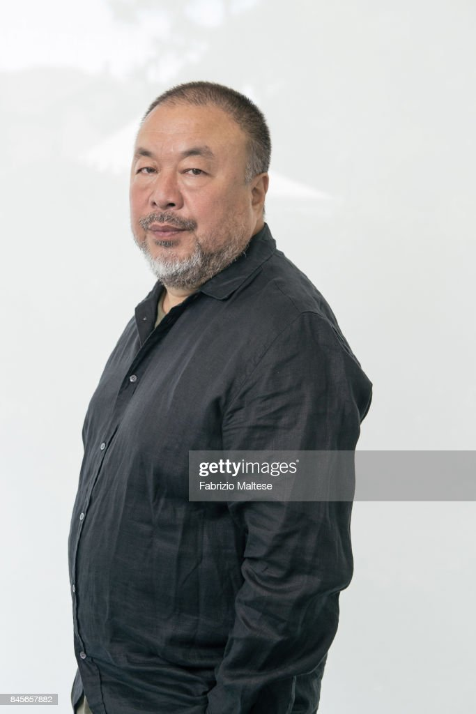 Artist and activist Ai Weiwei is photographed on September 1, 2017 in Venice, Italy.