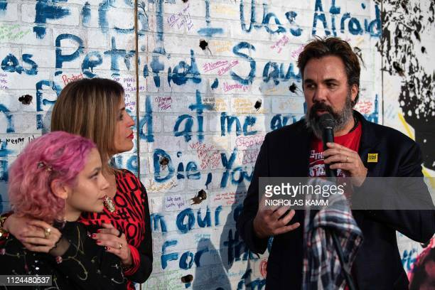 Artist and antigun activist Manny Oliver and wife Patricia the parents of Stoneman Douglas High School shooting victim Joaquin Oliver and Joaquin's...