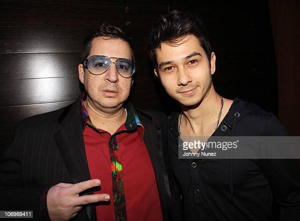 Artist and designer Noah G Pop and DJ Alan Liao attend Fabolous' birthday celebration at Greenhouse on November 18 2010 in New York City