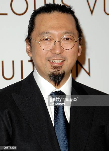 Artist and fashion designer Takashi Murakami arrives at the Murakami Gala at MOCA hosted with Louis Vuitton on October 28 2007 in Los Angeles...