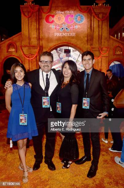 Artist and film consultant Lalo Alcaraz and guests at the US Premiere of DisneyPixar's Coco at the El Capitan Theatre on November 8 in Hollywood...