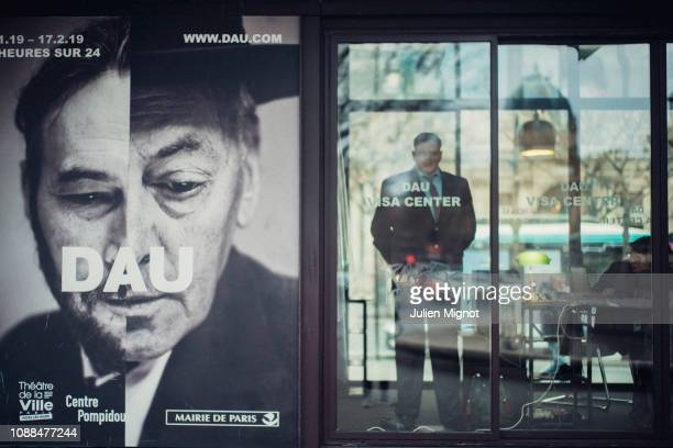Artist and filmmaker Ilya Andreevich Khrzhanovsky director of DAU experiment poses for a portrait on January 2019 in Paris France