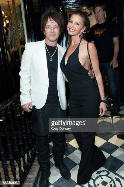 Artist and Guitar Player Billy Morrison and Actress Charisma Carpenter attend the Billy Morrison Aude Somnia Solo Exhibition at Elisabeth Weinstock...