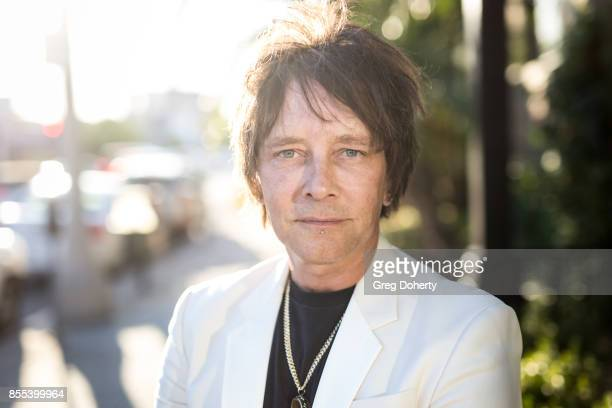 Artist and Guitar Player Billy Morrison poses for a portrait before the Billy Morrison Aude Somnia Solo Exhibition at Elisabeth Weinstock on...