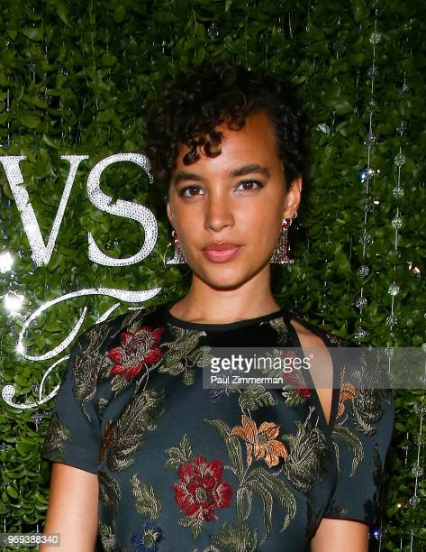 Artist and model Phoebe CollingsJames attends the 2018 CFDA Fashion Awards' Swarovski Award For Emerging Talent Nominee Cocktail Party at DUMBO House...