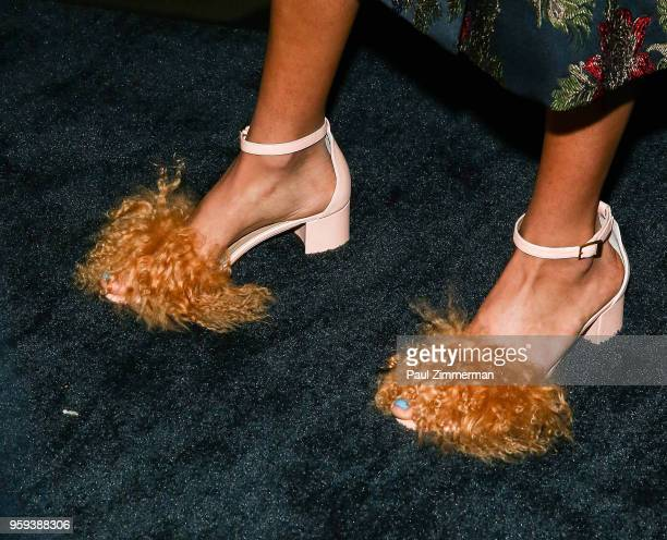 Artist and model Phoebe CollingsJames shoe detail at the 2018 CFDA Fashion Awards' Swarovski Award For Emerging Talent Nominee Cocktail Party at...
