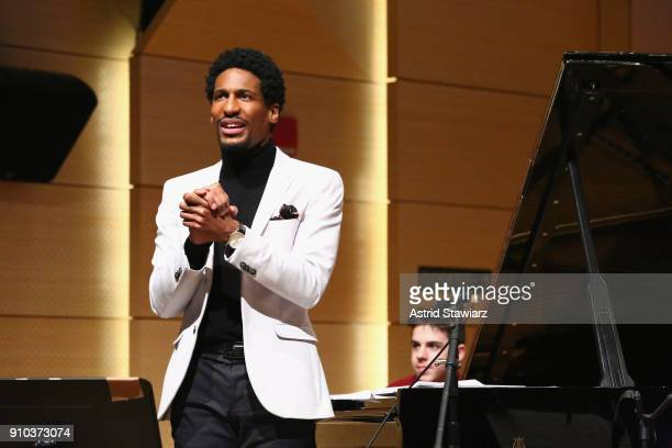 Artist and past GRAMMY Camp®Jazz Session member Jon Batiste performs at the GRAMMY Museum®'s ninth annual GRAMMY In The Schools® Live A Celebration...