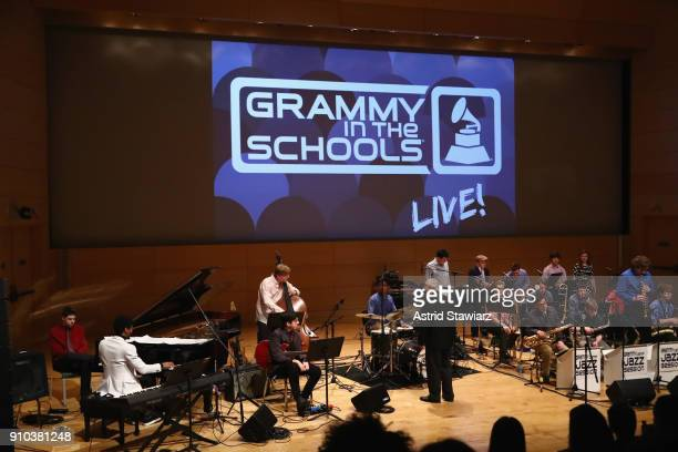 Artist and past GRAMMY Camp®Jazz Session member Jon Batiste performs with Jazz Education Hall of Fame Inductee Justin DiCioccio and GRAMMY CampJazz...