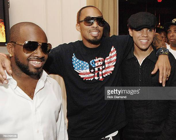 Artist and Producer Jermaine Dupri Artist Producer and Film Maker Dallas Austin and Evan Ross Son of Diana Ross Celebrate Chris Tucker's new film...