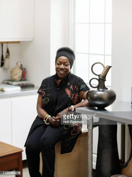 Artist and studio potter Magdalene Odundo is photographed on January 24 2018 in London England