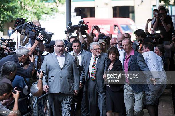 Artist and television personality Rolf Harris arrives at Southwark Crown Court to face sentencing on 12 counts of indecent assault on July 4 2014 in...