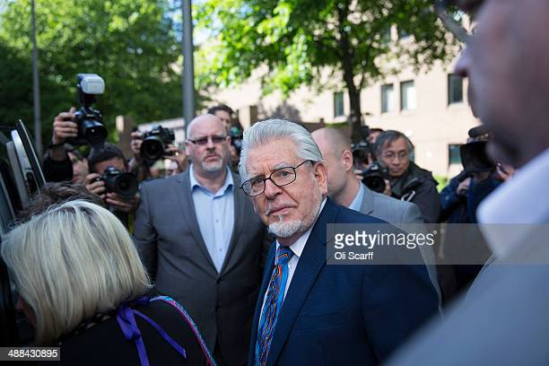 Artist and television personality Rolf Harris leaves Southwark Crown Court on May 6 2014 in London England Mr Harris who was arrested in March 2013...